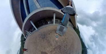 Acadêmicos de jornalismo realizam projeto 360° do Santuário