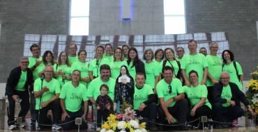 Peregrinos de Orleans/SC cantam no Santuário