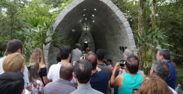 Irmãs do Santuário participam da inauguração de Gruta em honra a Santa Paulina
