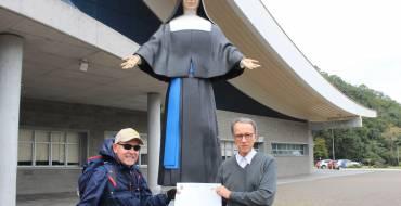 Peregrino da Fé visita pela 3ª vez o Santuário Santa Paulina