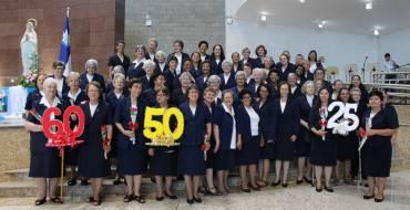 Irmãs realizam jubileu de vida religiosa consagrada no Santuário