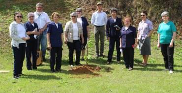 Equipe do Santuário planta árvore em gesto de amor aos entes queridos falecidos