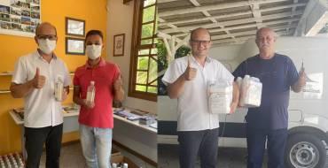 Santuário recebe doação de álcool gel